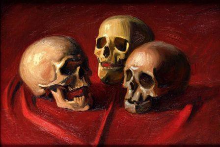 Georg Scholz: Venitas (drei Totenköpfe)