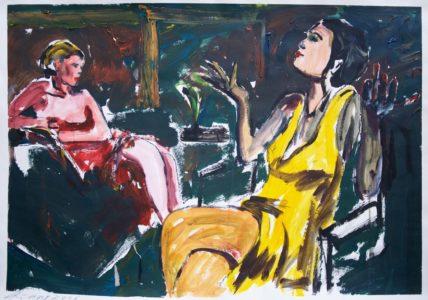 Zwei Frauen in der Nacht