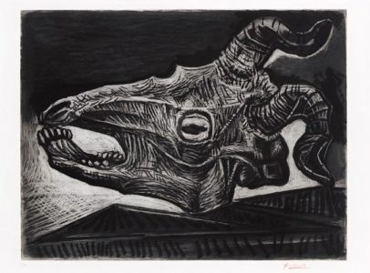 Pablo Picasso: Le Cráne de Chévre sur Table (Die Ziegenschädel auf dem Tisch)
