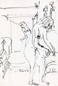 Interieur mit weiblichen Akten