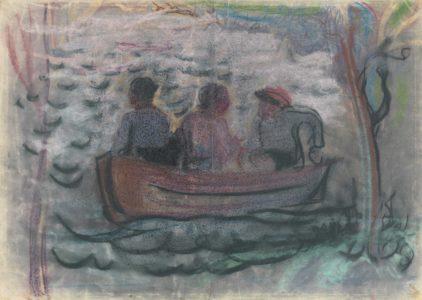 Drei Mann im Boot