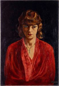 Rudolf Schlichter: Speedy in red blouse