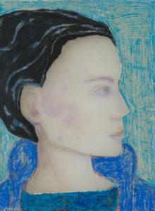 Sue Hayward: Woman ( Blue Coat )