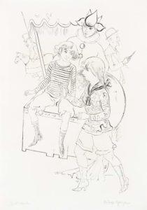 Rudolf Schlichter: circus children