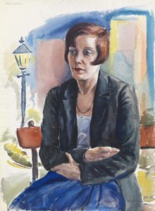 Kurt Weinhold: woman on bench