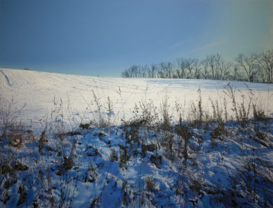 Joseas R. Helmes: Langmathenberg with snow