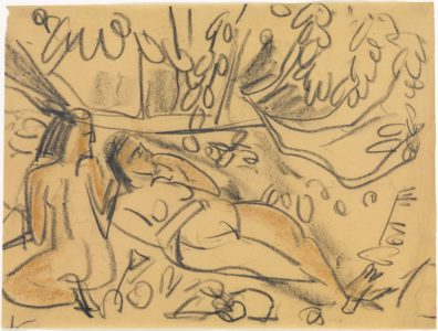 Ernst Ludwig Kirchner: Reclining and crouching nude