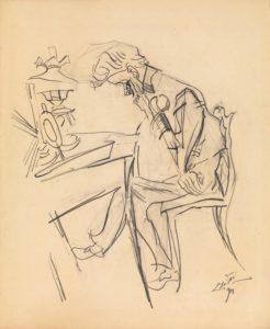 Ludwig Meidner: Reading Man