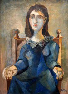 Jankel Adler: Sitting Woman