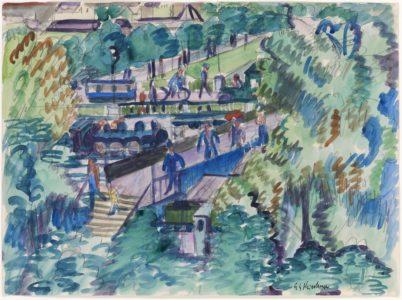 Ernst Ludwig Kirchner: Zürich rallway station