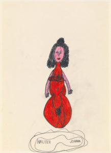 Johann Hauser: Woman in red dress