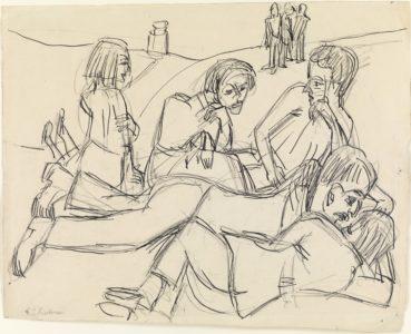 Ernst Ludwig Kirchner: Rastende Bauern