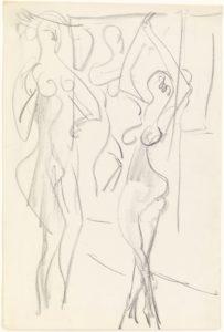 Ernst Ludwig Kirchner: Zwei Akte vor Aktgemälde